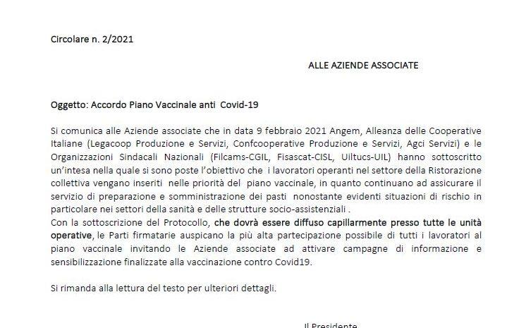Accordo Piano Vaccinale anti Covid-19
